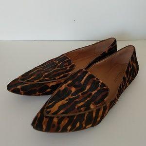 Madewell leopard hair point toe flat size 9
